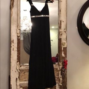 NWT  Black Event Dress w/Sequin Accents